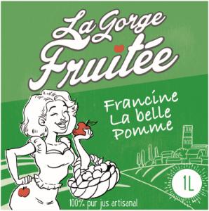 Francine, pur jus de pomme artisanal et... séduisant ! ©La Gorge Fruitée