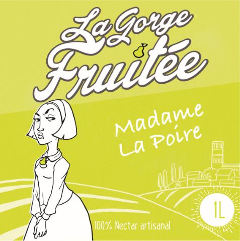 Présentation de la Gorge Fruitée: Nectar de poire artisanal. Pear nectar. Sud de la France, Hérault et Occitanie