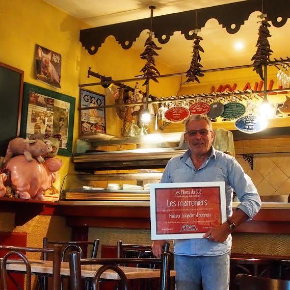 La Gorge Fraîche et Daniel Vaudon, restaurant Les Marronniers à Pézenas