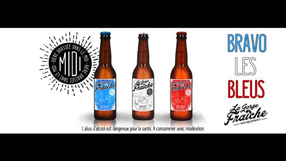 La bière La Gorge Fraîche soutient les bleus