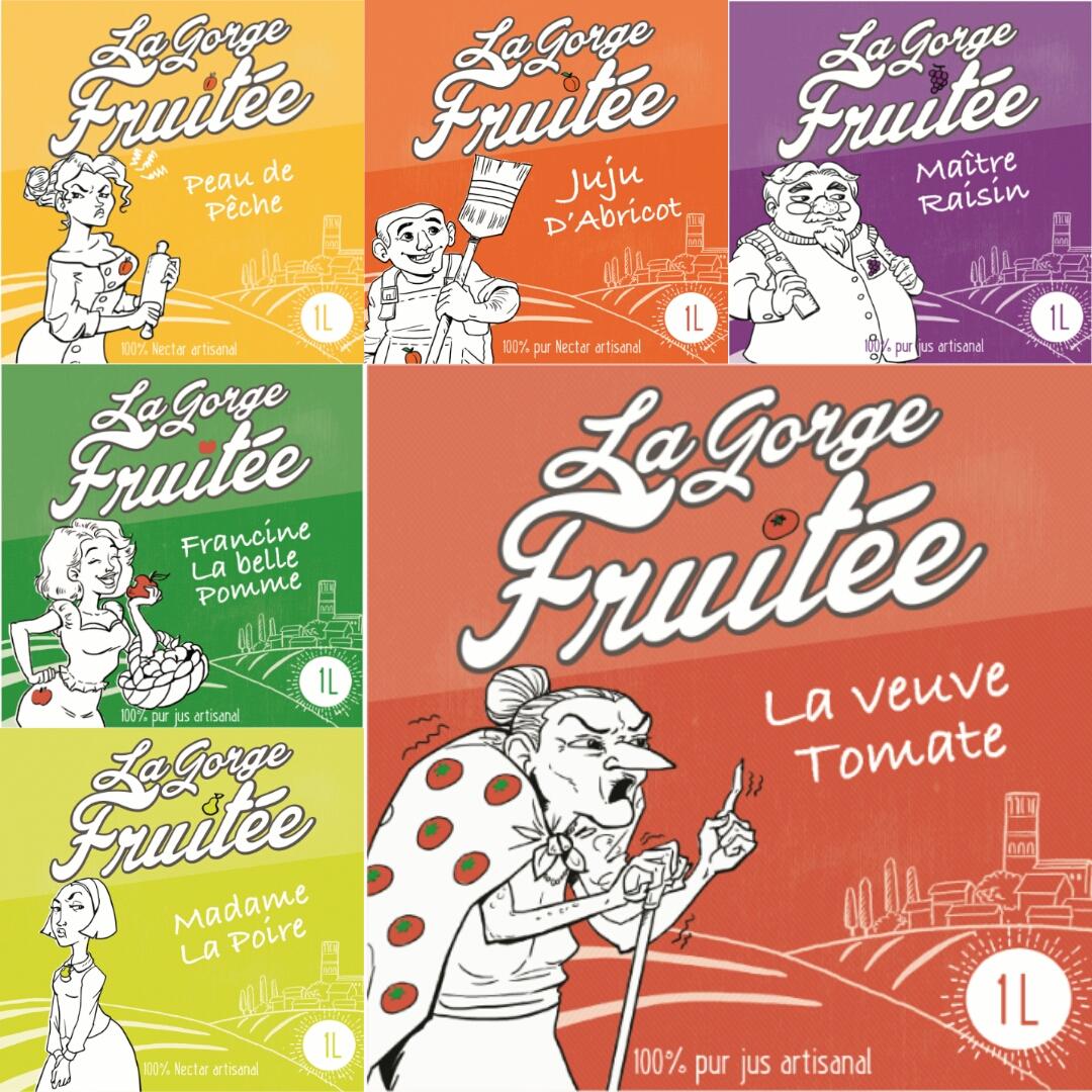 LA GORGE FRUITEE, jus de fruits et nectars artisanaux du sud de la France©La Gorge Fruitée